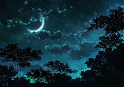 moon in beautiful sky
