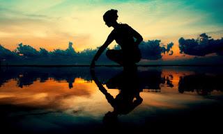 alone girl under sky