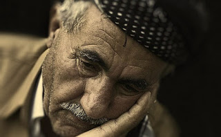 sad old man